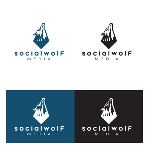 Logo Concept for Social Wolf Media