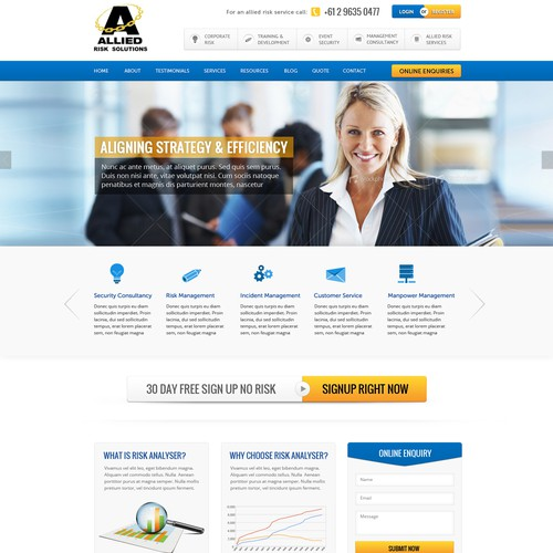 Help Allied Risk Analysis with a new website design