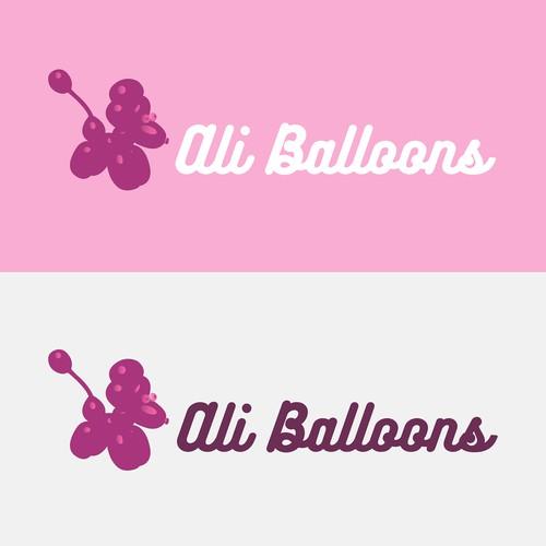 Funny balloon shop logo