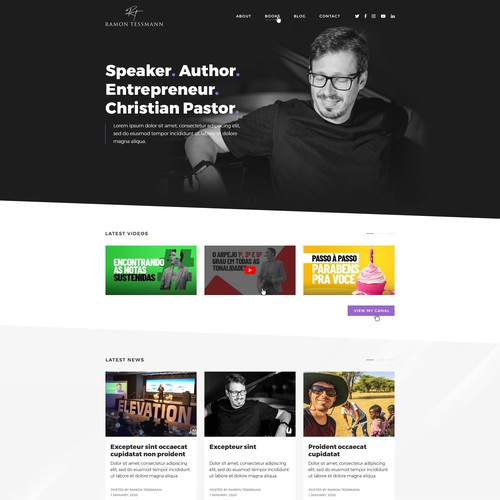 Speaker, author personal website