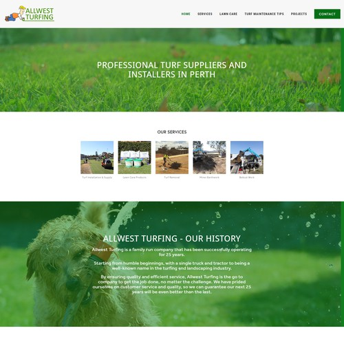 All West Turfing Company Web Design