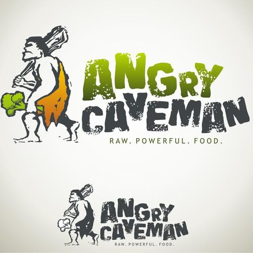 Angry Caveman Needs Logo