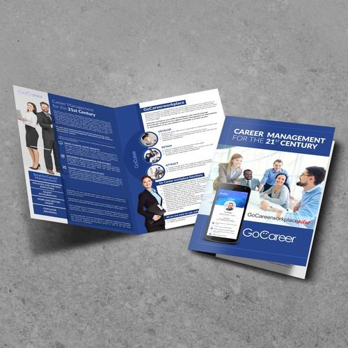 GoCareer insights (Bi-fold Brochure Design)
