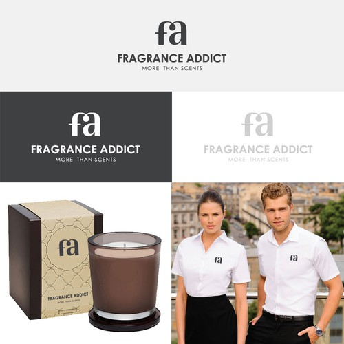 Name Initial Logo for FRAGRANCE ADDICT