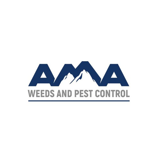 AMA weeds and pest control logo design
