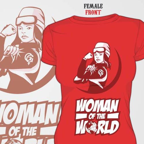 Woman of The World T-Shirt Design