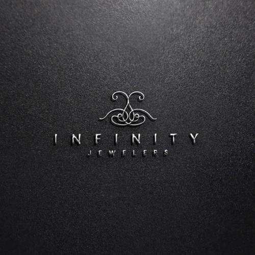 Classy logo for INFINITY JEWELERS