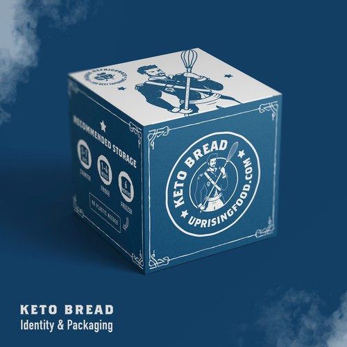 Keto Bread Packaging Design & identity