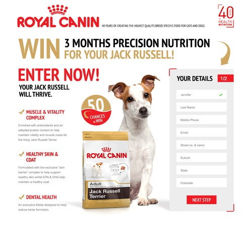 Premium Dog food Competition Landing Page - GUARANTEED!