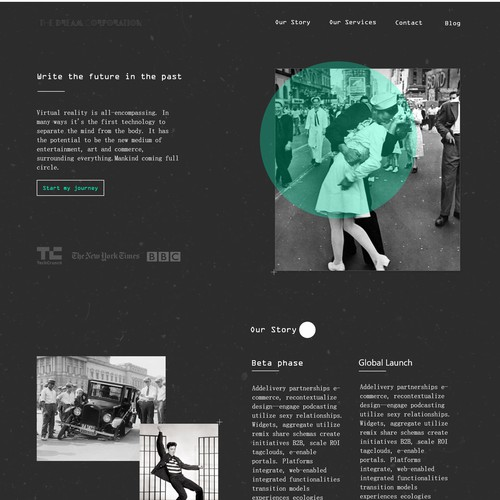 Vintage Site Concept for a VR company