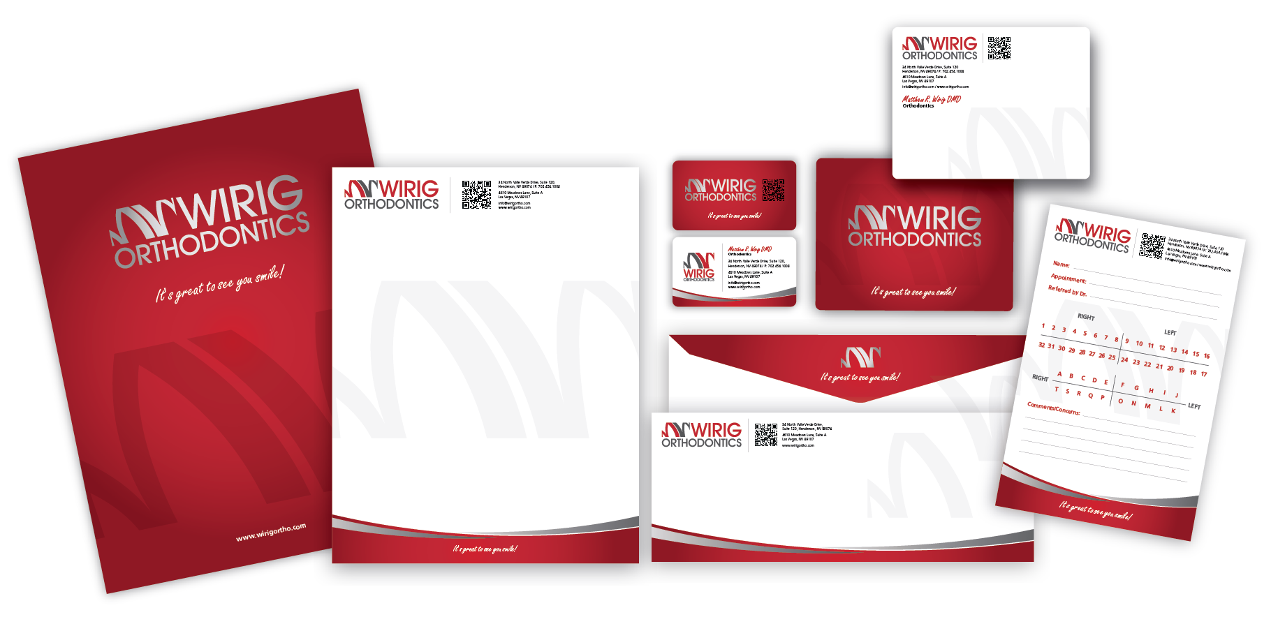 Create professional/creative stationary for Wirig Orthodontics