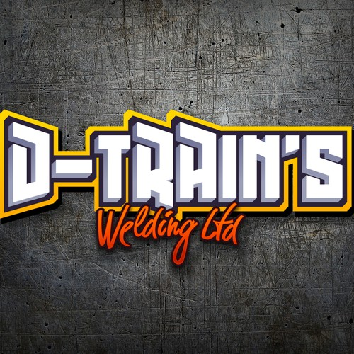 Graffiti-style Logo for D-Trains Welding