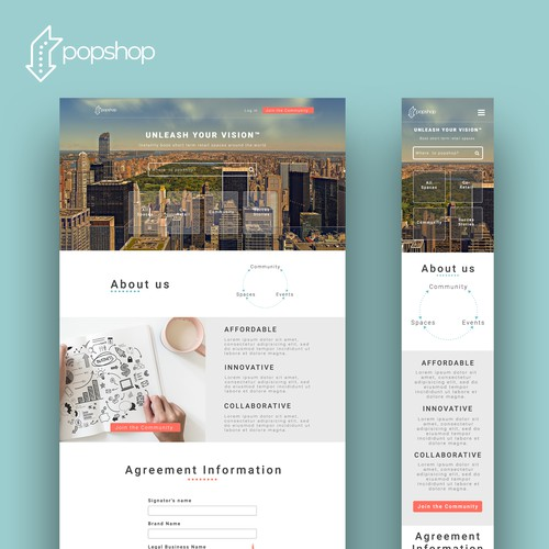 redesign for retail popup shop and brand marketplace