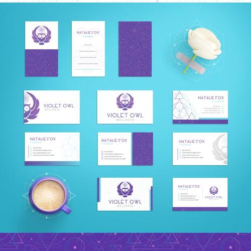 Logo & Brand identity for Violet Owl Wellness