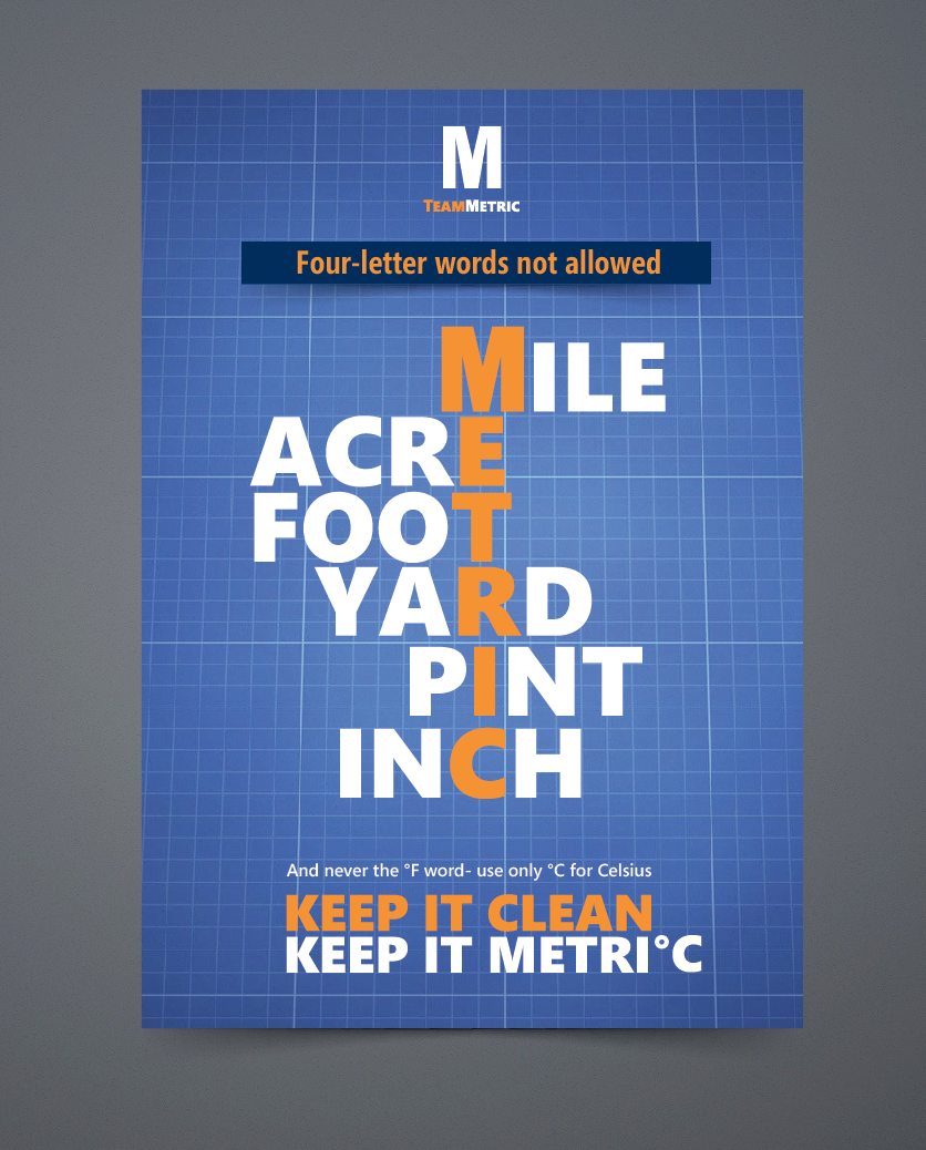 Create the next signage for Team Metric
