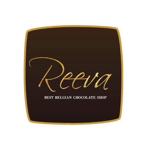 Corporate logo for Belgian chocolate shop