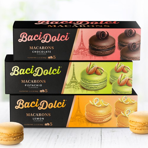 Baci Dolci macarons packaging line