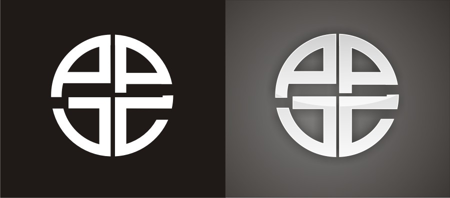 Four initials  in interesting design for present