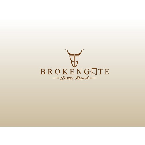 logo for BrokenGate cattle ranch or simply BrokenGate
