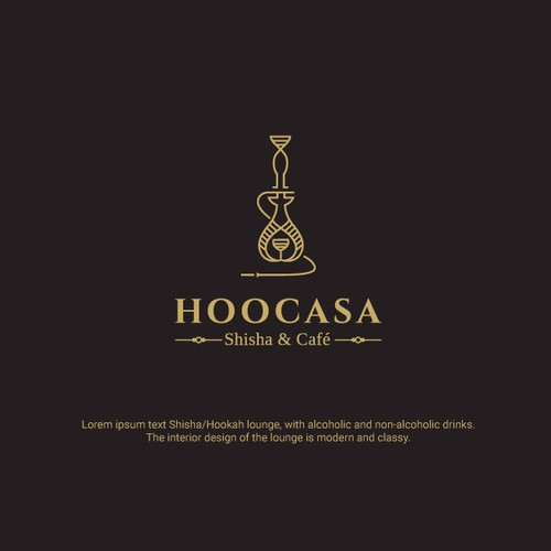 Luxurious Logo for Hookah lounge