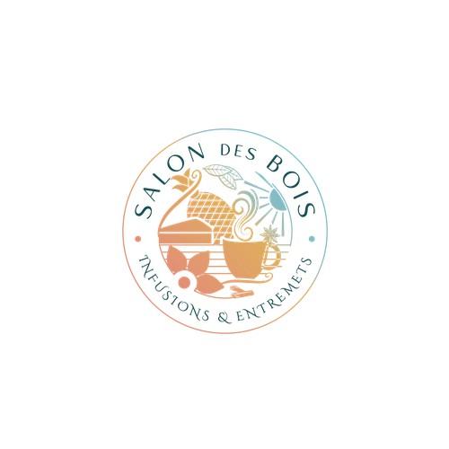 Logo sophitiqué pour un salon de thé exotique et gourmand