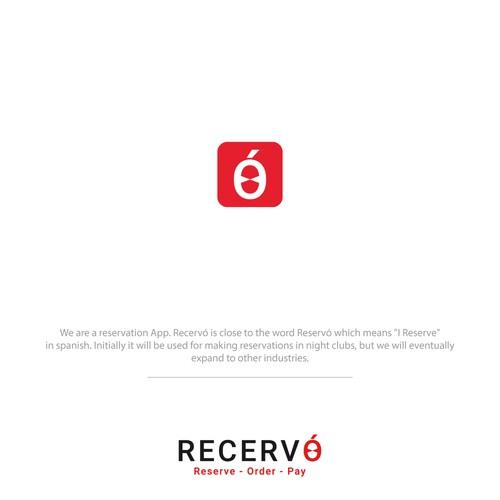 Modern logo for a bar reservation APP