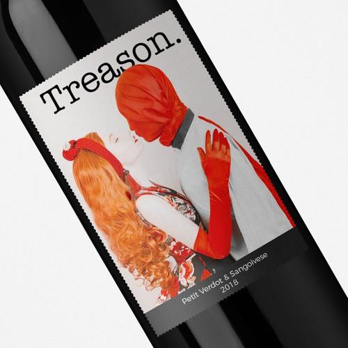 Bold red wine label