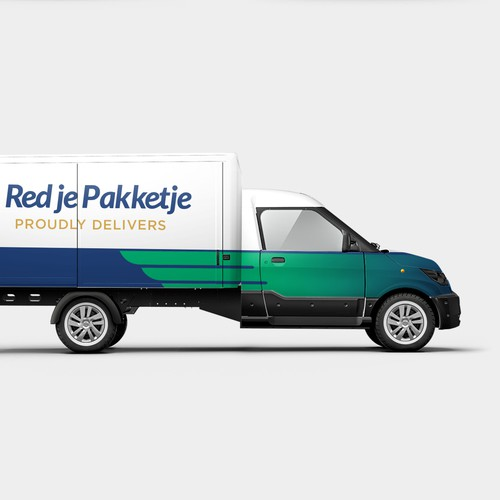 Delivery cars wrap design