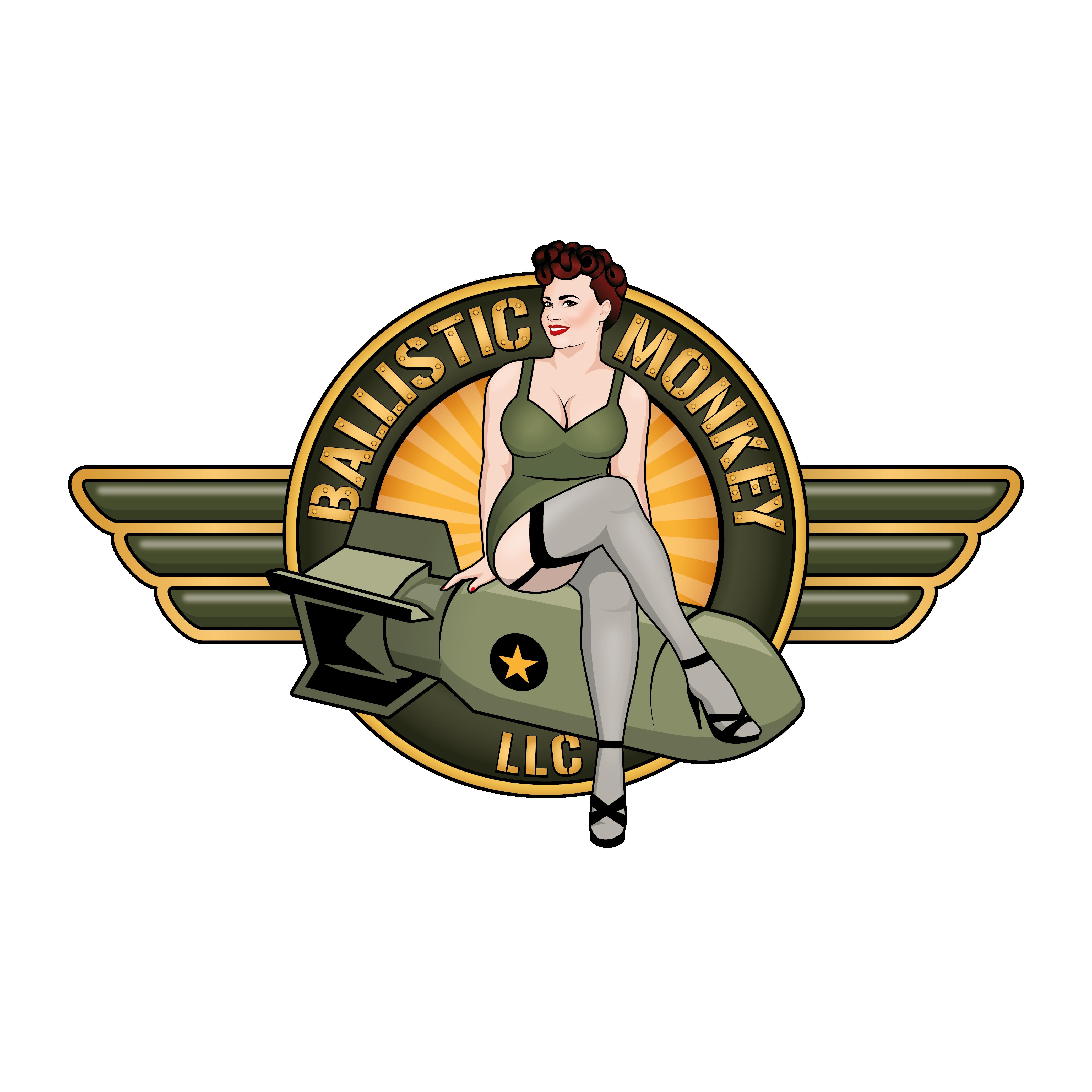 Create a Pin Up logo for a woman Veteran CBD retailer.