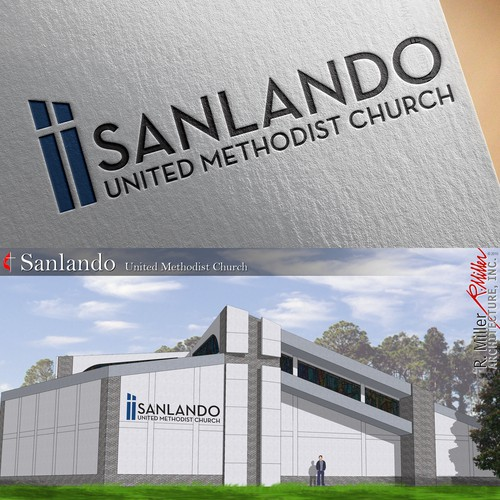 Modern logo design for church