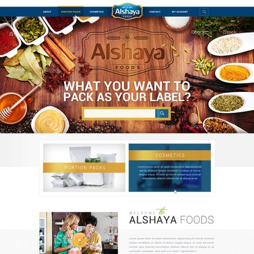 Alshaya Foods Web Design