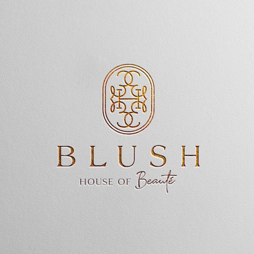 Blush Beauty Salon Bold Luxury Logo