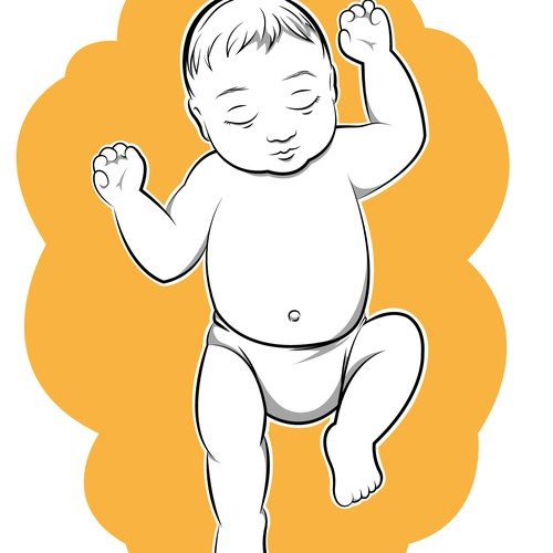 illustration of a newborn