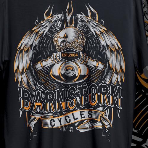 TSHIRT DESIGN FOR BARNSTORM MOTORCYLE