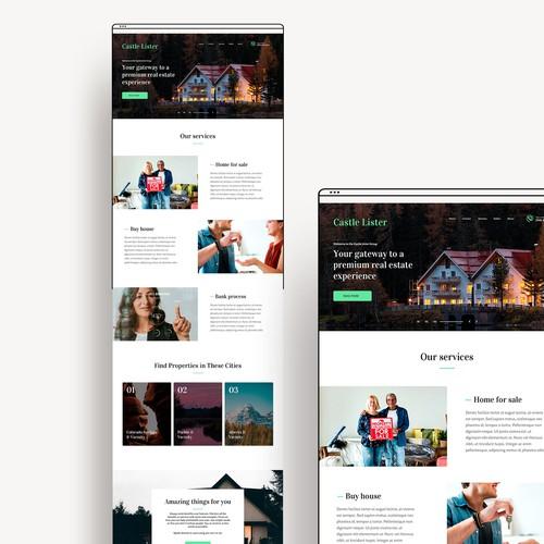 Real Estate WordPress Theme Design