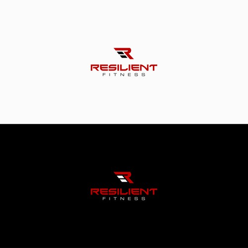 cool logo design for resilient fitness