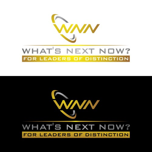 "Create a modern, sophisticated, yet elegant design, for a start-up venture called ""What's Next Now"""
