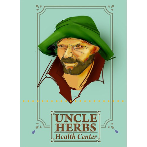 Create Uncle Herbs Character Illustration
