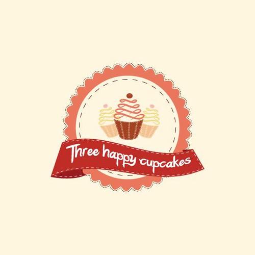 Three happy cupcakes