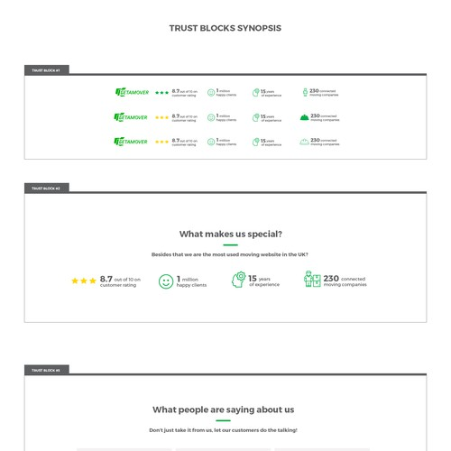 Trust Blocks Design for Website