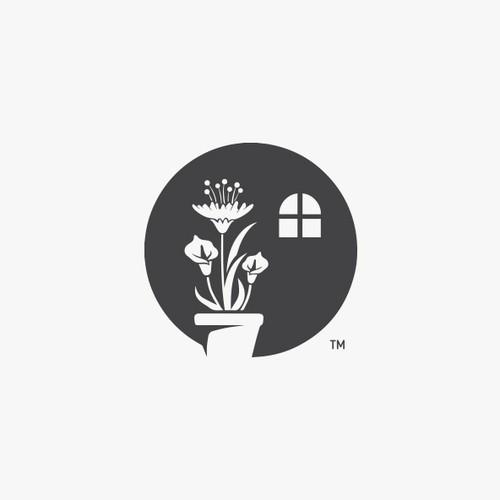 复杂的家庭植物标志