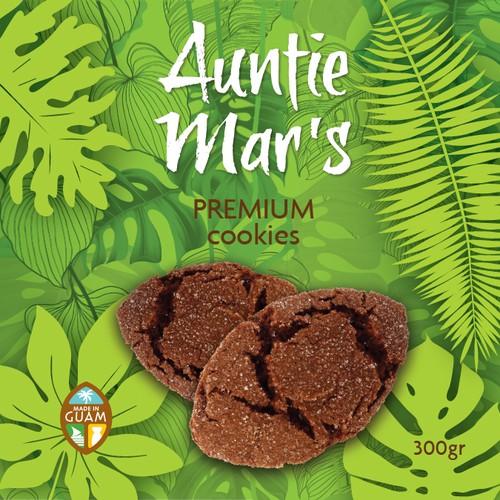 Auntie Mar`s  Premium Chocolate Crinkle Cookies