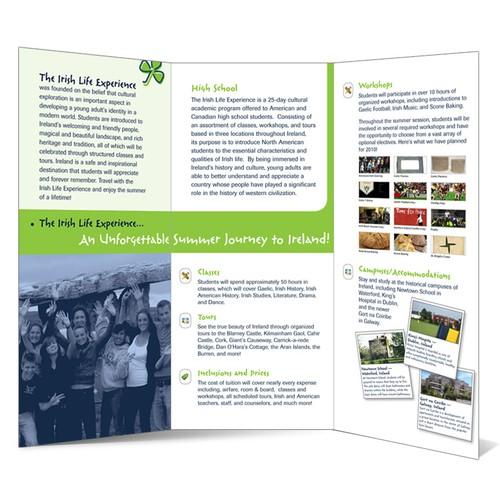 Study Abroad (Ireland) Tri-Fold Brochure