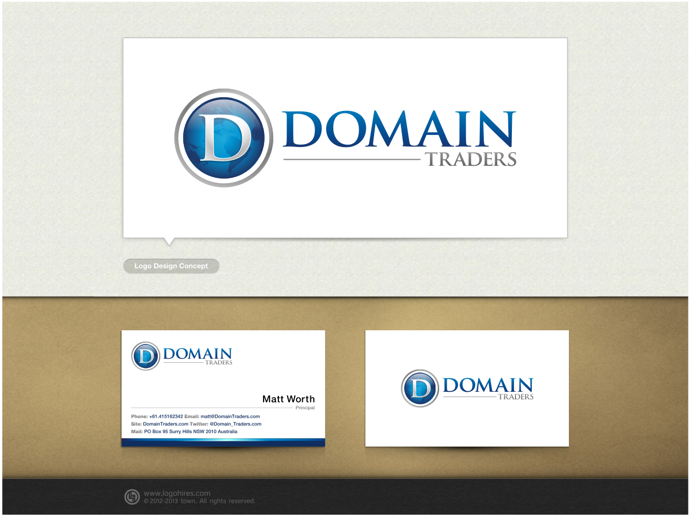 New logo and business card wanted for DomainTraders