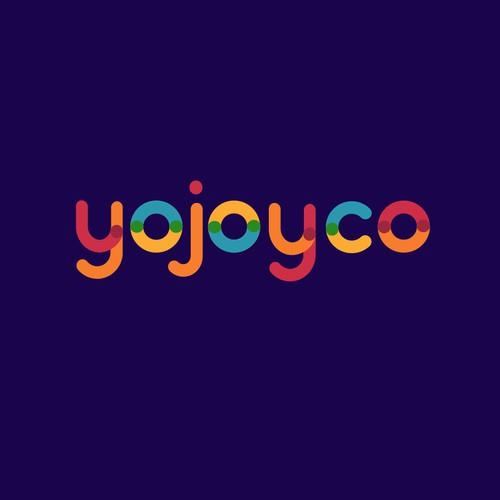 Fun colorful Logo for Yojoyco