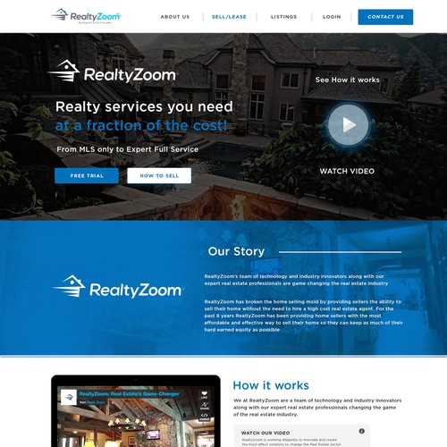 Modern Powerful new Landing/Home Page