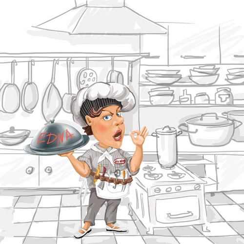 Help bring a sarcastic cookbook character to life