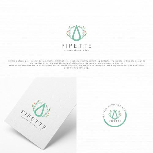 Logo and Brand Identity for Pipette