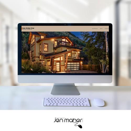 Design Portfolio Site for an Architect