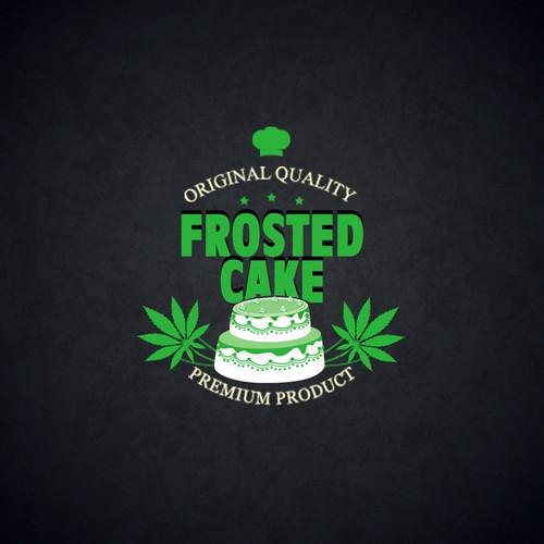 Marijuana  Frosted Cake